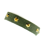 KBD Stacker Cuff with Rhinestones - Moss
