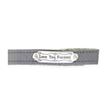 KBD Stacker Cuff Pretty Pewter Love You Forever