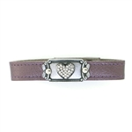 KBD Stacker Cuff Pave Crystal Heart on Purple