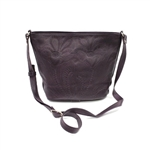 Leaders in Leather Plum Crossbody Bag