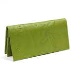 Leaders in Leather Green Wallet Checkbook Cover