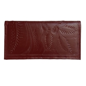 Leaders in Leather Red Wallet Checkbook Cover
