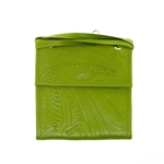 Leaders in Leather Green Trifold Traveler Bag