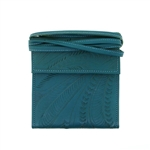 Leaders in Leather Turquoise Trifold Traveler Bag