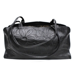 Leaders in Leather Black Tooled Shoulder Bag