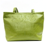 Leaders in Leather Green Tote or Large Handbag