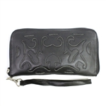 Leaders in Leather Black Wallet or Wristlet