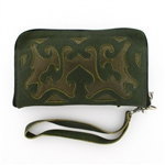Leaders in Leather Moss & Bronze Wallet