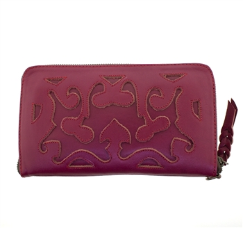 Leaders in Leather Pink Wallet