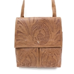 Leaders in Leather Vaquetta Natural Crossbody Bag