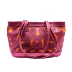Leaders in Leather Pink & Orange Classic Cutout Tote