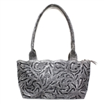 Leaders in Leather Vaquetta Slate Sheridan Tote