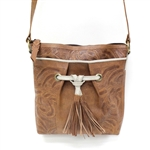 Leaders in Leather Vaquetta Natural & Bone Sheridan Bucket