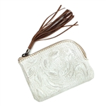 Leaders in Leather Vaquetta Bone Coin Purse