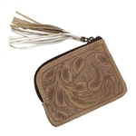 Leaders in Leather Vaquetta Natural Coin Purse