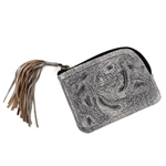 Leaders in Leather Vaquetta Slate Sheridan Coin Purse