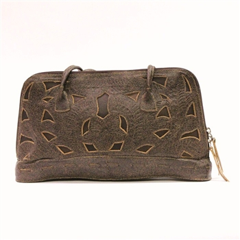 Leaders in Leather Musk and Walnut Rectangle Handbag