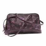 Leaders in Leather Plum Rectangle Handbag