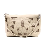 Leaders in Leather Beige and Copper Crossbody or Wristlet