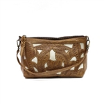 Leaders in Leather Natural & Bone Crossbody or Wristlet