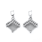 Liquid Metal Mesh Earrings CME4