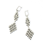 Liquid Metal Mesh Earrings E16-N