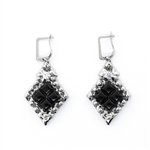 Liquid Metal Mesh Onyx Earrings PR-E1