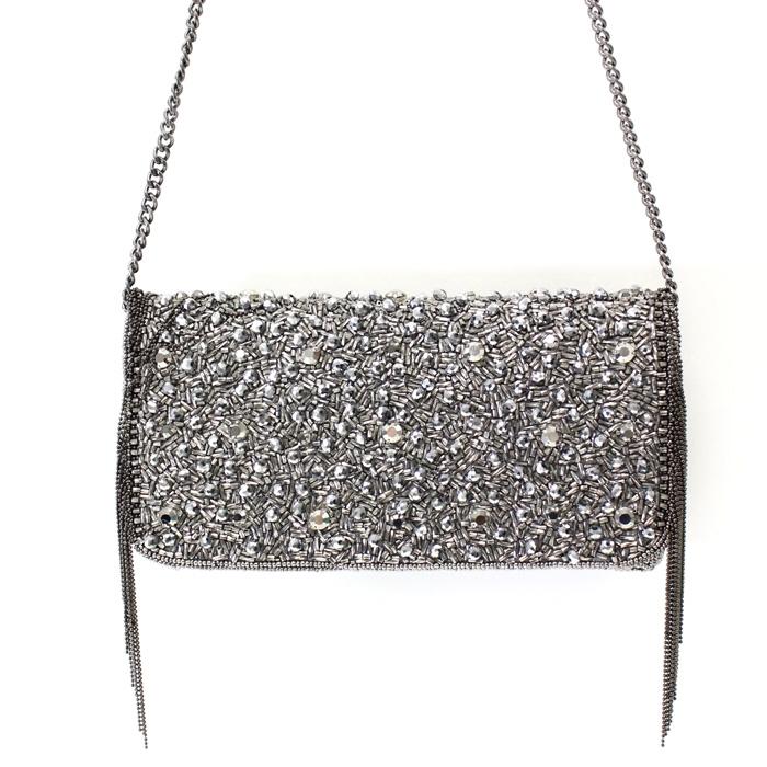 Mary Frances Sway Pewter Handbag Or Clutch