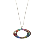 Michal Golan Multi-Bright Oval Necklace 1413