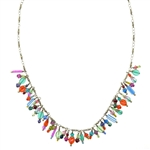 Michal Golan Multi-Bright Bead Dangle Necklace 1415
