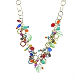 Michal Golan Multi-Bright Dangle Necklace 1803