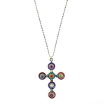 Michal Golan Multi-Bright Cross Necklace 1807