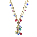 Michal Golan Multi-Bright Dangle Necklace 1815