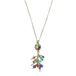 Michal Golan Multi-Bright Dangle Necklace 1818