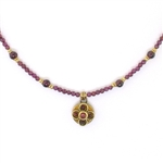 Michal Golan Garnet Dainty Beaded Necklace 2723