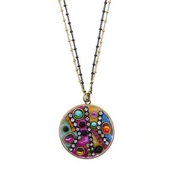 Michal Golan Multi-Bright Circle Necklace 2904