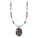 Michal Golan Multi-Bright Oval Necklace 2907