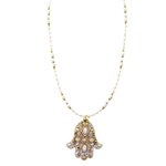 Michal Golan Hamsa Necklace 870