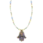 Michal Golan Hamsa Necklace 948