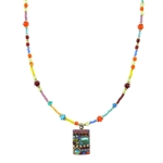 Michal Golan Multi-Bright Square Necklace N-5251