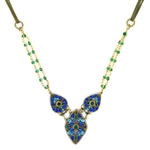 Michal Golan Peacock Necklace 3 Teardrop N3296