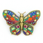Michal Golan Multibright Butterfly Pin