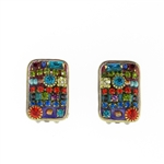 Michal Golan Multi-Bright Rectangle Earrings S-5250