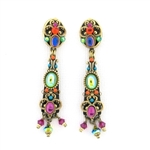 Michal Golan Kaleidoscope Glass Dangle Earrings - Posts or Clip-ons