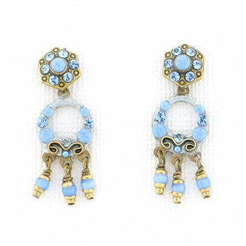 Michal Golan Sky Crystals Mini Hoop Post Earrings S7523