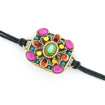Michal Golan Kaleidoscope Square Leather Bracelet