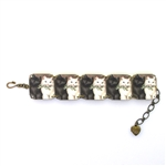 Mamas Little Babies Black & White Kitty Bracelet