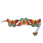 Mamas Little Babies Orange Butterfly Bracelet