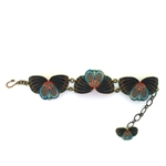 Mamas Little Babies Teal Butterfly Bracelet