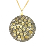 Nunu Designs Citrine Large Round Necklace